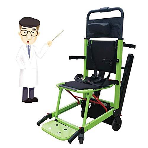 ZHANGYY Carrozzelle automotrici Pieghevole Pieghevole Leggero Sedia a rotelle elettrica compatta Mobile Scala ausiliaria per Gli Anziani su e Giù per Le Scale