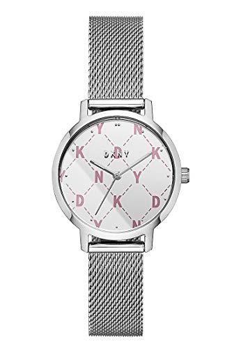 DKNY Damen-Uhren Analog Quarz One Size Silber Edelstahl 32001753