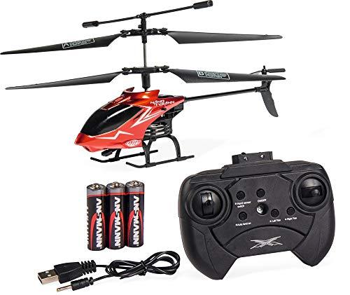 Carson 500507070 Nano Tyrann Mini RC Helikopter, Robustes RTF (Ready to Fly) Modell für Einsteiger, mit 2-Kanal IR-Fernbedienung, für Kinder ab 8 Jahren, rot