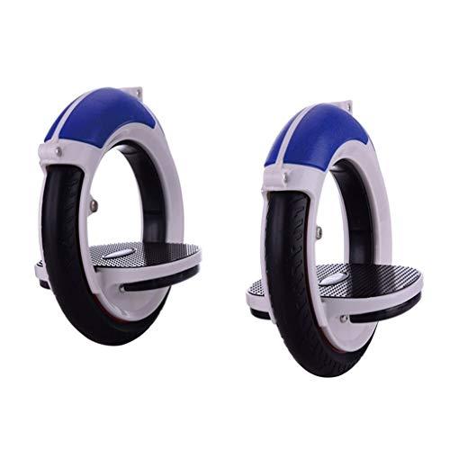 Mini Boardless Skateboard Erwachsener Doppel Rad-Rolle-Zyklus Singular Selbstfahrer Skates Inline Räder Freeline-Skate Drift Brett Unisex (Color : Blue)