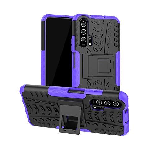 DWaybox Custodia for Nova 5T Honor 20 Hybrid Rugged Armor Hard Back Cover Custodia with Kickstand Compatible for Huawei Honor 20/Nova 5T 6.26 inch (Purple)