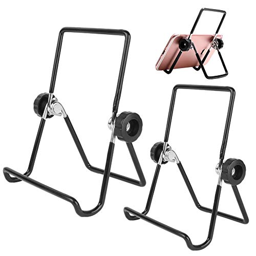 CYSJ 2 Unids Jarra Mason Brote Soportes de la Tapa de Acero Inoxidable Brote Tarro Soporte Teléfono iPad Tablet Stand para Germinado de Alubias, Brotes de Ensalada etc(Negro)