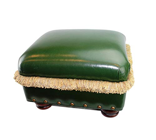 Hancock & Moore Pasargad Green Leather H&M Ottoman
