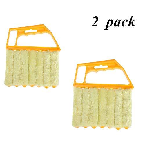 Hanguang - Strumento di pulizia per persiane, mini pulitore a mano, mini detergente per persiane, detergente per polvere, spazzola per veneziane condizionatore per vetri Duster Cleaner