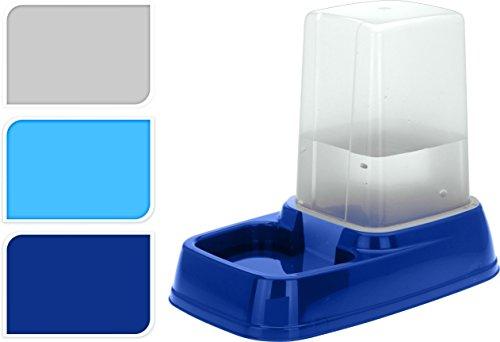 matrasa Futternapf mit 3L Reservoir - Futterspender Wasserspender Wassernapf für Hunde und Katzen Dunkelblau