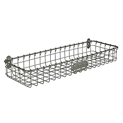 Spectrum Diversified Vintage Wall Mount Storage Tray/Basket, Industrial Gray Review