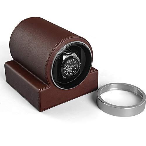 N\C xikuo [Actualización] El Reloj Mecánico Winder, Completamente Silenciosas Giratoria del Motor, Energía Fuerte, Anti-magnetización, Suave Y Elástico Almohada, 135 * 160 * 120mm (Color : Brown)