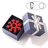 Snowflake Multiherramienta 18 en 1 de acero inoxidable, herramienta multifuncional para copo de nieve, portátil, herramienta de copo de nieve, herramienta portátil, llave de anillo de tornillo, color