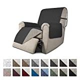 Easy-Going Recliner Sofa Slipcover Reversible Sofa Cover Furniture Protector Couch Cover Water Resistant Elastic Straps Pets Kids Dog Cat (Recliner,Darkgray/Beige)