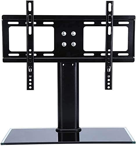 GWDFSU Soporte de Suelo Giratorio Universal para TV con Pantalla de TV Inteligente de 21-32 Pulgadas/LED de hasta 30 kg Soporte de Montaje de TV Ajustable en Altura con Base de Vidrio Templado