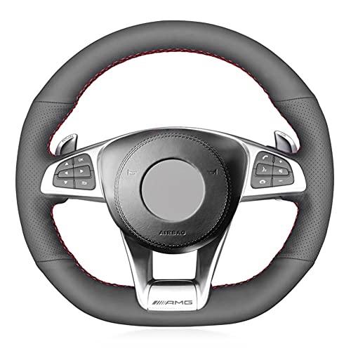 bdDIE Cubierta de Cuero para Volante de Coche DIY, para Mercedes-Benz A45 AMG W205 C43 C63S AMG CLA45 CLS63 AMG GLC 43 63 AMG