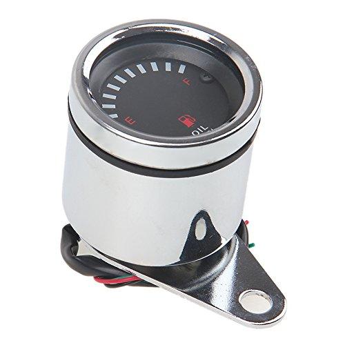 Possbay Motorrad Kraftstoffanzeiger 12V LED Tankuhr Universal Tankanzeige