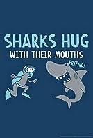ERZAN大人のパズル木製パズルサメは口のユーモアで抱きしめます大人子供パズル1000ピースパズル