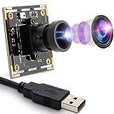 Cámara web de 2 MP, 1080P, módulo de cámara USB con lente ojo de pez de 170 grados, gran angular, HD, 0,01 lux, cámara mini USB con poca iluminación y cámara OTG en formato H.264.