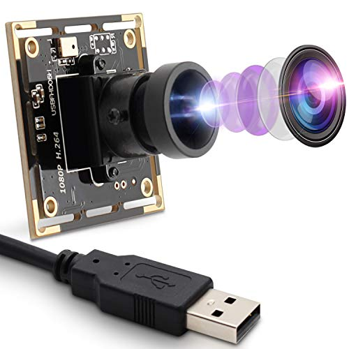 2MP Webcam 1080P USB-Kameramodul mit 170 Grad Fisheye-Objektiv Weitwinkel HD Webcam 0.01Lux Mini-USB-Kamera mit geringer Beleuchtung und OTG-Kamera im H.264-Format