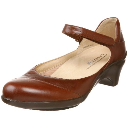 Aravon Womens Maya Pump,Brown,6 N (AA)