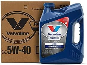 Valvoline Premium Blue Extreme SAE 5W-40 Full Synthetic Diesel Engine Oil 1 GA, Case of 3