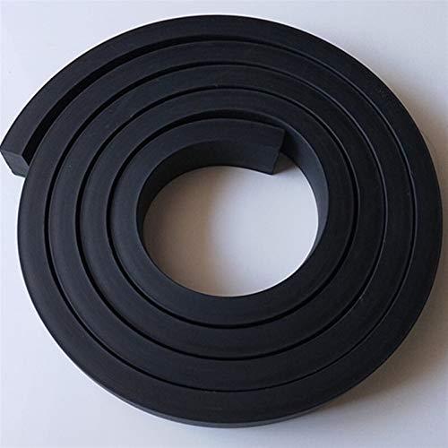 Lcuiling- Tira de sellado 1 M barra de goma puerta de la ventana Sello de sello cuadrado coche aislamiento aislamiento de la cinta de la cinta amortiguador amortiguador antideslizante tampón estera Am