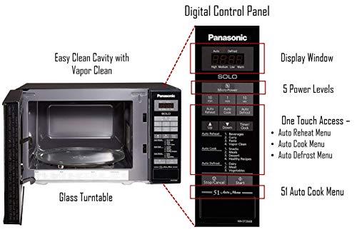 Panasonic 20L Solo Microwave Oven (NN-ST266BFDG, Black, 51 Auto Menus)