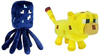Set Of 2 Ocelot And Squid Minecraft Animal 7  Plush Toy Doll