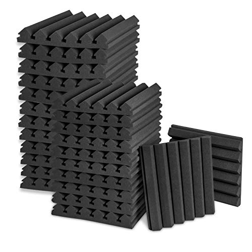 "Acoustic Panels, 2"" X 12"" X 12"" Acoustic Foam Panels, Studio Wedge Tiles, Sound Panels wedges Soundproof Sound Insulation Absorbing (24 Pack)"
