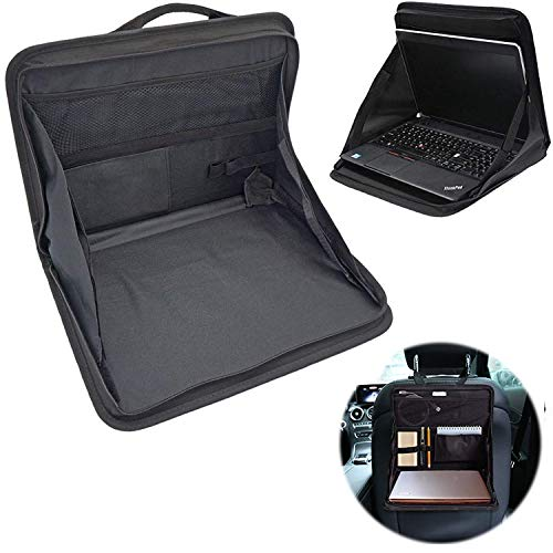 WIKEA Laptop Holder Stand Tray Mount Back Seat Auto Food Work Table Organizer, Car Back Seat Storage Tray Bag