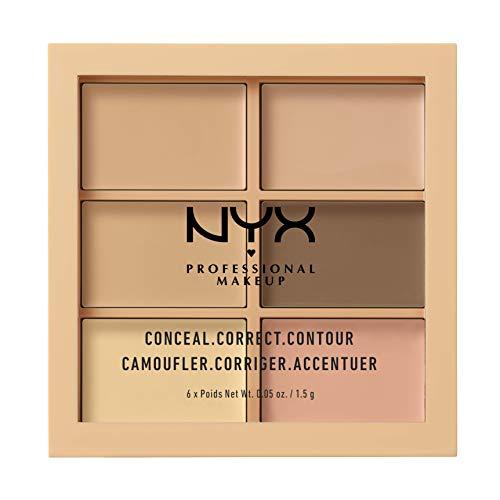 NYX Professional Makeup Palette Conceal, Correct, Contour Correttori, Texture Cremosa, Tonalità Light
