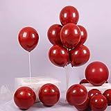 Rote Luftballons, 50 Pack 30cm Red Helium Ballons für Geburtstag Hochzeitsfeier Dekorationen & Zubehör