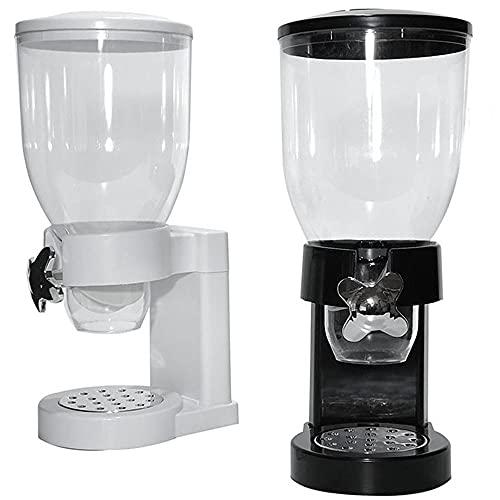 Dispenser distributore dosatore erogatore di Cereali Corn Flakes per Colazione da casa Cucina capacità 3,5 Litri-Bianco