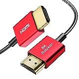 HDMI 8k ケーブル HDMI 2.1 超スリム 8K@60Hz 4K@120Hz HDMI ケーブル ハイスピード PS5/4,Xbox, Nintendo Switch,Apple TVなど適用 48Gbps超高速4320P UHD HDR/eARC/HDCP/3D対応 (1.0メートル, ブラック) Rulykar
