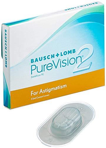 PureVision2 HD for Astigmatism Monatslinsen weich, 3 Stück BC 8.9 mm / DIA 14.5 / CYL -1.25 / Achse 40 / 3.75 Dioptrien