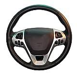 CómodaFunda de Volante de Cuero Antideslizante Cosida a Mano, Apta paraFord Explorer SUV Edge 4dr SUV Taurus SHO