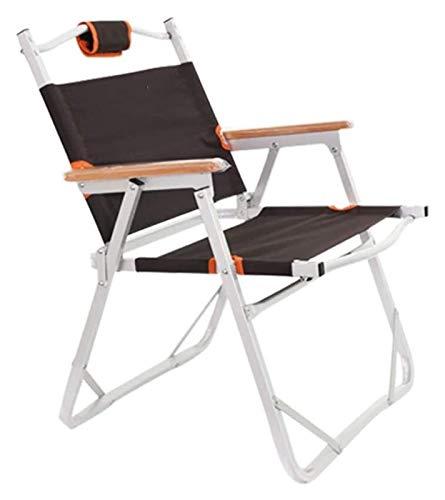 Seat Chaise pliante Camping portable léger avec poche de rangement Idéal for Activités de plein air Festival de Pêche Voyage (Color : Brown)