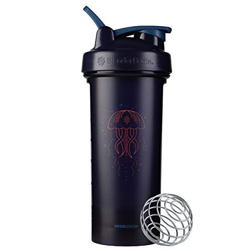 BlenderBottle Animals Special Edition Classic V2 Shaker Bottle, 28-Ounce, Jellyfish
