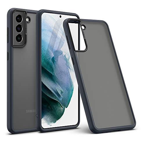 CYRILL Cover Galaxy S21, Color Brick Custodia Compatibile con Samsung Galaxy S21 Cover Protettiva PC Rigido Antiscivolo AntiGraffio Opaco, TPU Bumper per Galaxy S21 5G (2021) - Nero