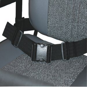 Kozee Komforts Safety Lap Strap for Scooter or Wheelchair, Adjustable Length with Side Release Buckle - Style 2