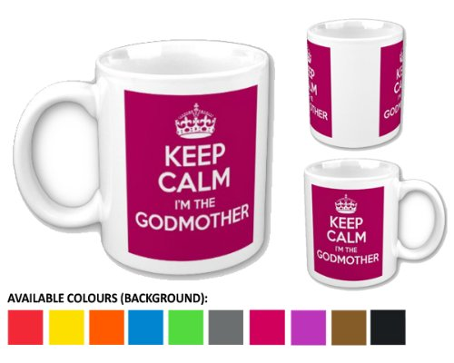 Novelty Mugs Mug Keep Calm I'm The Godmother