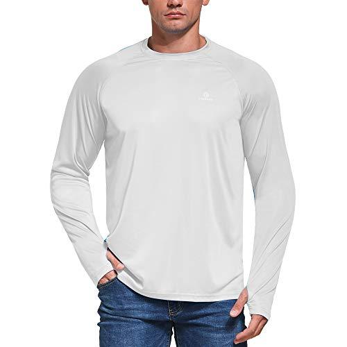 Ogeenier Homme Anti UV T-Shirt à Manches Longues Séchage Rapide Chemise Protection Solaire UPF 50+