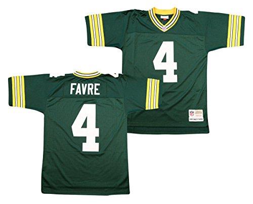 Mitchell & Ness Brett Favre Green Bay Packers Green Throwback Jersey 2X-Large