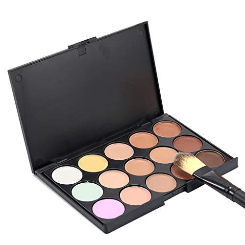 Nourich 15 Couleurs Palette de Maquillage Correcteur Camouflage Crème Cosmétique Set Fond de Teint Cosmétique Anti-cernes Mettez en Surbrillance Camouflage Palette pour Maquillage Cosmétique (01#)