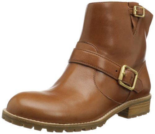 Hot Sale Marc by Marc Jacobs Women's Buckled Strap Flat Ankle Boot,Tan,39.5 EU/9.5 M US
