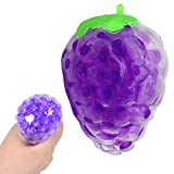 1 pelota de juguete para niños y adultos con forma de fruta, suave y bonita, de alta calidad, con forma de fruta,antiestrés, para apretar, juguete divertido y sensorial, bola de pared pegajosa, A