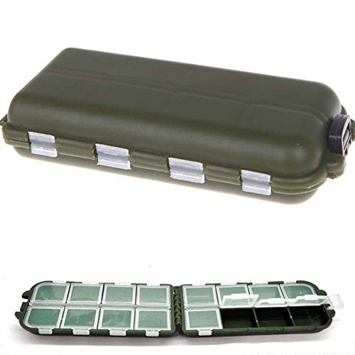 SaySure - 8 Compartments Storage Case Fly Fishing Lure Spoon Hook Bait Tackle Box - GMN-BG-SPT-000482