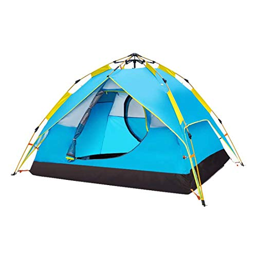 SPFAZJ TentCamping Tent 3-4 People Fully-Automatic Tent Quick Open Family Tent Protable Waterproof Breathable Travel Camping Tent,Blue,triple~purpose models