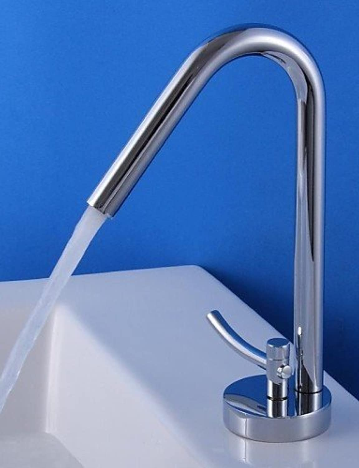 GXS HPB Contemporary Chrome Finish Brass One Hole Single Handle Sink Faucet