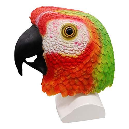 Ritapreaty máscara de Cabeza de Loro de látex, máscara de Cabeza ...