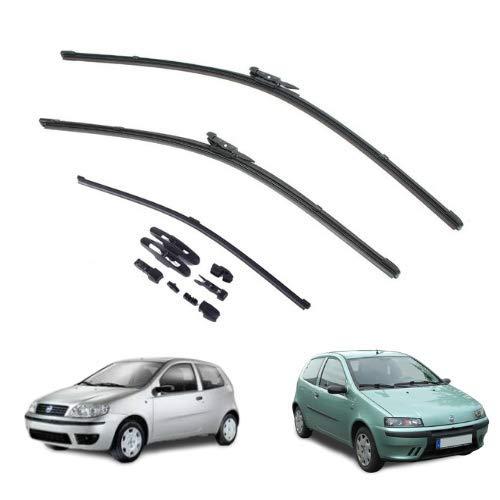 AOQ – Spazzole tergicristallo anteriori e posteriore set da 3 - Fiat Punto