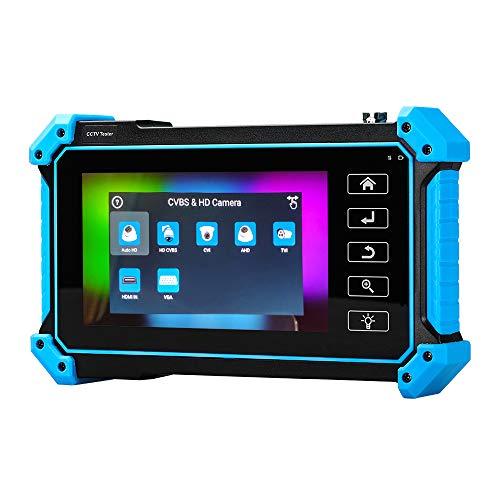 TOMLOV Tester per telecamera IPC da 5 pollici 8MP AHD CVI TVI CVBS Test monitor analogico LCD 4K H.265