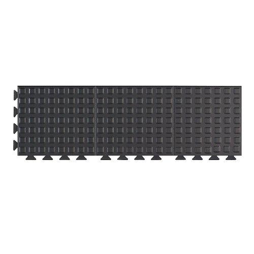 wearwell 502.58 X 1 x 3BK Vitaliteit vermoeidheidsmat, geruit vergrendeling, tegels, 30 cm x 91 cm, zwart