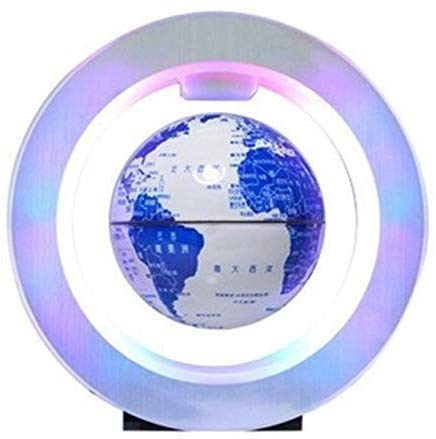 JJDSN Floating Globe Sphere Kaart Globe World Global Electronic Magnetic Levitation Multi-Color LED-lampen kleur varieert desktop-kantoor interieurvoorwerpen Kinderopbouw, model 3 inch
